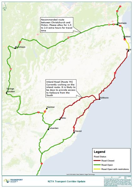 Альтернативные пути движения по южному острову